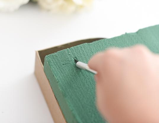 DIY Floral Letter Step 2